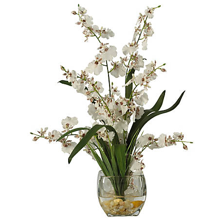 """Nearly Natural 19"""" Dancing Lady Orchid, White"""