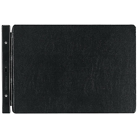 """Wilson Jones® Raven® Vinyl-Guarded® Binder, 7"""" Post Spacing, 11"""" x 17"""", Black"""