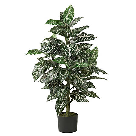 Nearly Natural 3'H Zebra Silk Plant With Planter