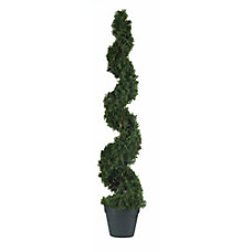 Nearly Natural 4 Cedar Spiral Topiary