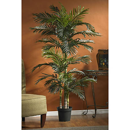 Nearly Natural 6 1/2' Golden Cane Palm Tree