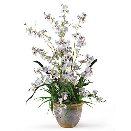 "Nearly Natural 26"" Dancing Lady Orchid With Vase"