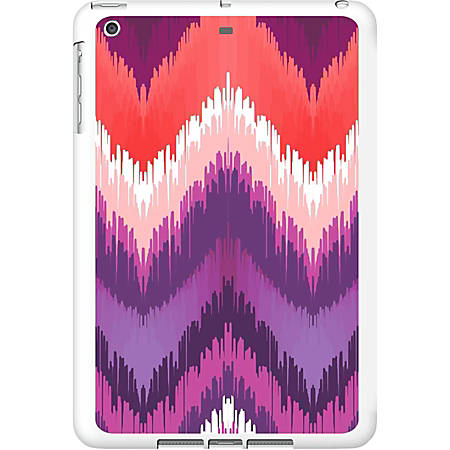 OTM iPad Air White Glossy Case Bold Collection, Peach/Purple