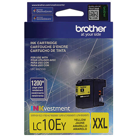 Brother® LC10EY High-Yield Yellow Ink Cartridge