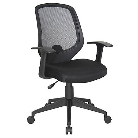 OFM Essentials Mesh Teacher's Chair, High-Back , Black