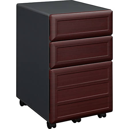 "Ameriwood™ Home 18-3/10""D Vertical 3-Drawer Mobile File Cabinet, Cherry"