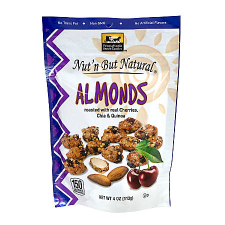 Pennsylvania Dutch Candies Nut'n But Natural Almonds With Cherries, Chia And Quinoa, 4 Oz, Pack Of 4
