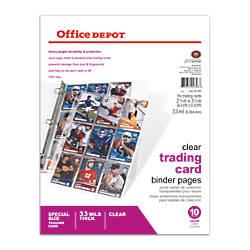 Office Depot Brand Trading Card Binder