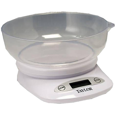 Taylor 3804 Digital Kitchen Scale with Bowl - 4.40 lb