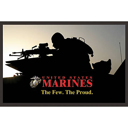 "California Color Products Marines Door Mat, 24"" x 36"", Tank At Sundown, Pack Of 3"