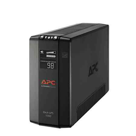 APC® Back-UPS® Pro BX Compact Tower Uninterruptible Power Supply, 8 Outlets, 1,000VA/600 Watts, BX1000M