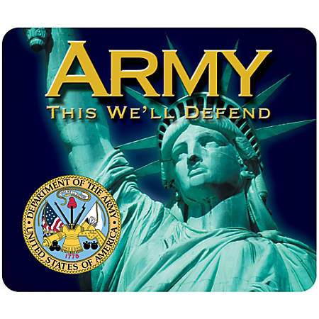 """Integrity Mouse Pad, 8"""" x 9.5"""", Army Liberty, Pack Of 6"""