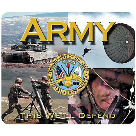 "Integrity Mouse Pad, 8"" x 9.5"", Army Multi-Photo, Pack Of 6"