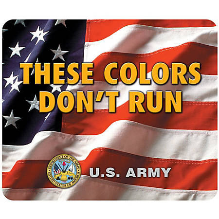 """Integrity Mouse Pad, 8"""" x 9.5"""", Army American Flag, Pack Of 6"""