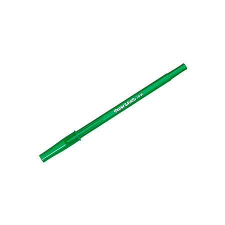 Paper Mate® Ballpoint Stick Pens, Medium Point, 1.0 mm, Green Barrel, Green Ink, Pack Of 12