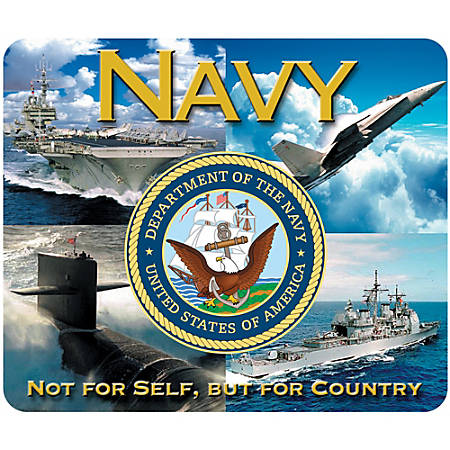 """Integrity Mouse Pad, 8"""" x 9.5"""", Navy American Flag, Pack Of 6"""