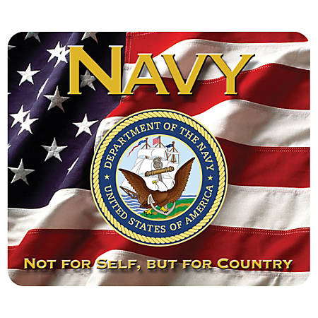 "Integrity Mouse Pad, 8"" x 9.5"", Navy 4-In-1 Action, Pack Of 6"
