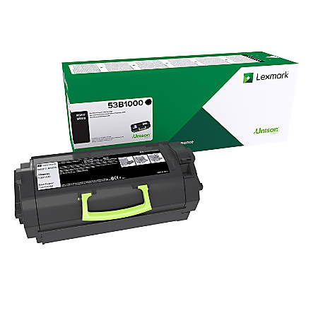 Lexmark™ 53B1000 Return Program Black Toner Cartridge
