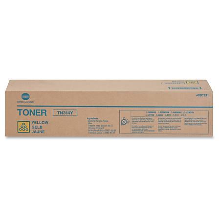 Konica Minolta TN314Y Original Toner Cartridge - Laser - 20000 Pages - Yellow - 1 Each