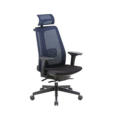 Boss Contemporary Mesh High-Back Chair, With Headrest, Black