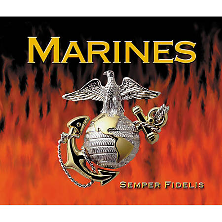 """Integrity Mouse Pad, 8"""" x 9.5"""", Marines FireStorm, Pack Of 6"""
