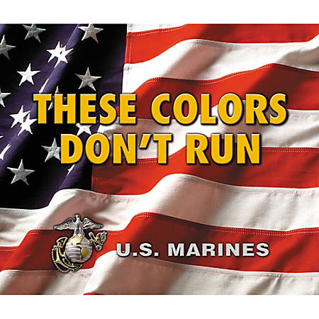 """Integrity Mouse Pad, 9"""" x 8.5"""", Marines American Flag, Pack Of 6"""