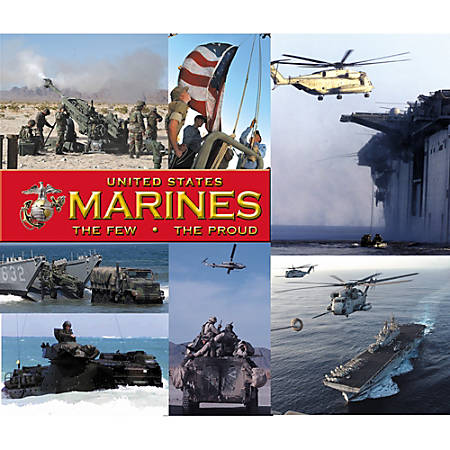 "Integrity Mouse Pad, 9"" x 8.5"", Marines Patriots In Action, Pack Of 6"