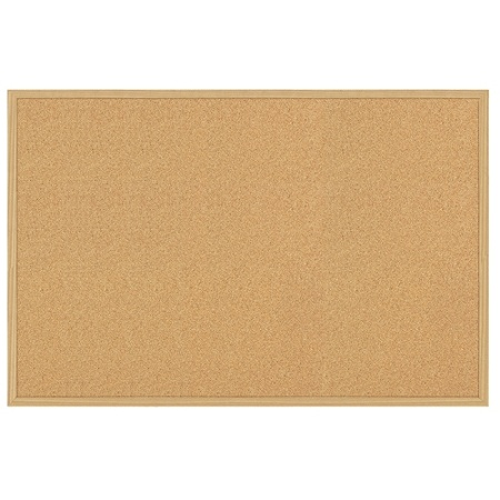 foray cork board 24 x 36 tan cork light oak frame by office depot