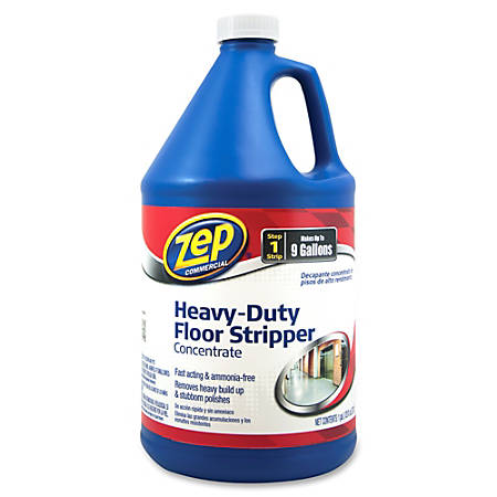 Zep Commercial Heavy-Duty Floor Stripper Concentrate - Concentrate Liquid - 1 gal (128 fl oz) - 4 / Carton - Blue