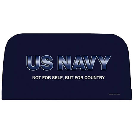 Integrity By California Color Decorative Folding Chair Cover, Navy, Pack Of 12