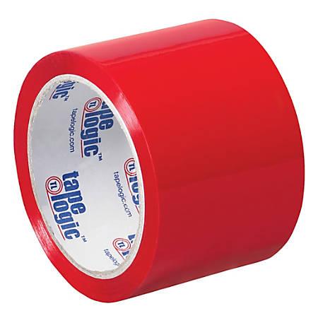 """Tape Logic® Carton-Sealing Tape, 3"""" Core, 3"""" x 55 Yd., Red, Pack Of 6"""