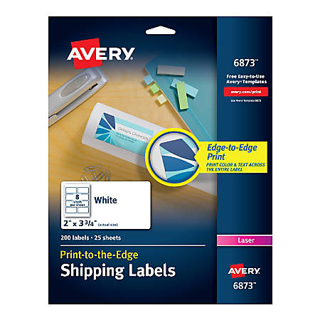 avery print to the edge permanent laser shipping labels 6873 2 x 3
