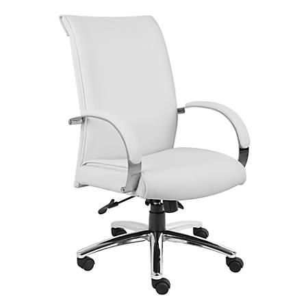 Boss Aaria Vinyl High-Back Chair, White