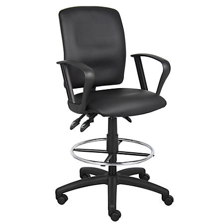 Boss Multi-Function Budget Drafting Stool, Black/Chrome