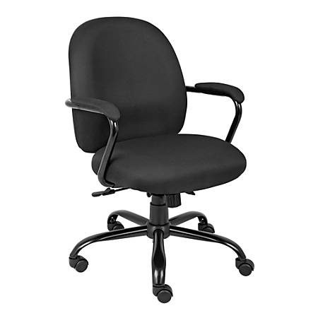 Boss Heavy-Duty Mid-Back Task Chair, Black