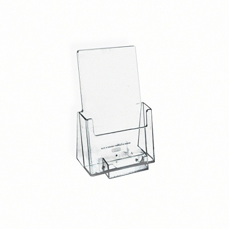 Azar Displays Plastic Trifold Brochure Holders With Business Card