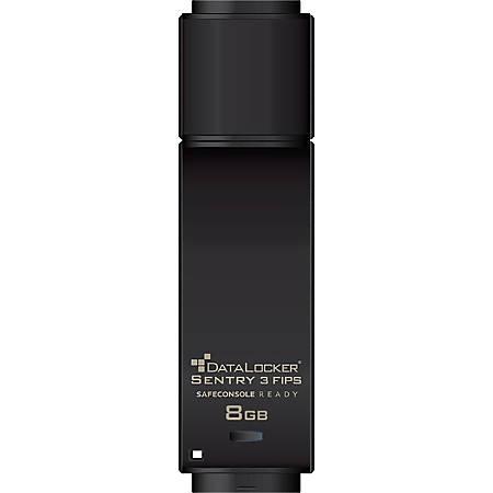DataLocker Sentry 3 FIPS Encrypted Flash Drive - 8 GB - USB 3.0 - 256-bit AES - 2 Year Warranty