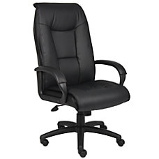 Boss Office Products Vinyl High Back