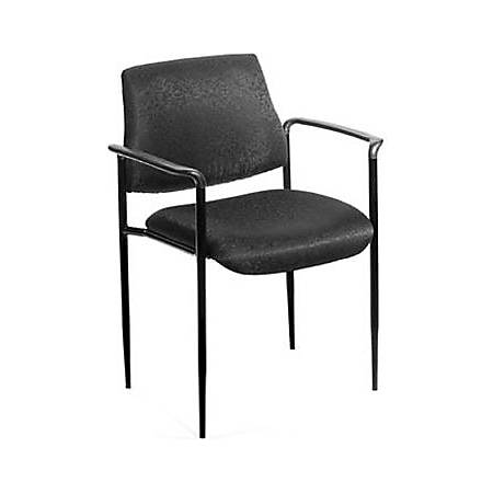 Boss Stackable Fabric Chair, Black