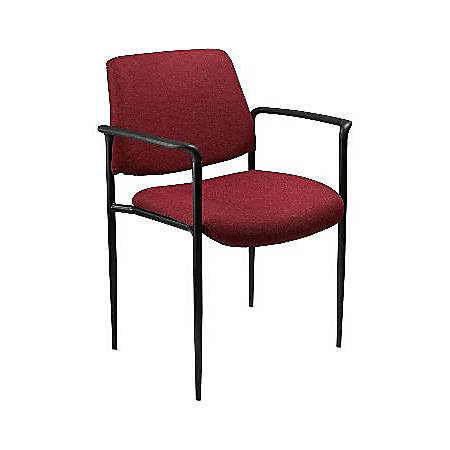 Boss Stackable Fabric Chair, Burgundy