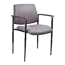 Boss Stackable Fabric Chair Gray