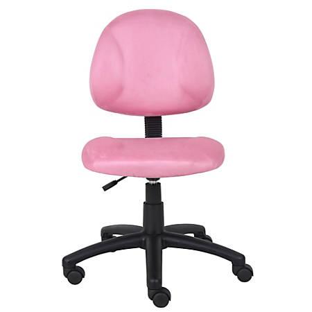 Boss Microfiber Task Chair, Pink