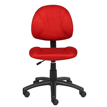 Boss Microfiber Task Chair, Red
