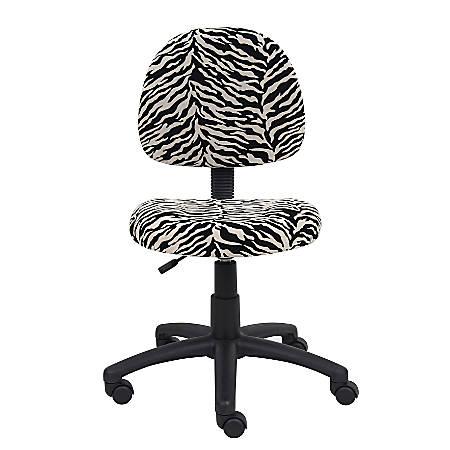 Boss Microfiber Task Chair, Zebra