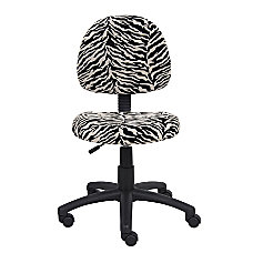 Boss Microfiber Task Chair Zebra