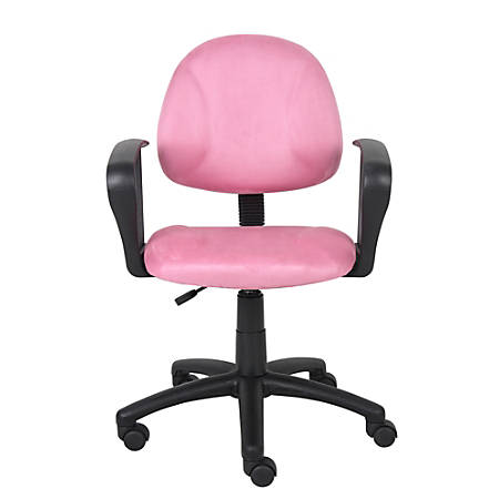 Boss Microfiber Task Chair, Pink