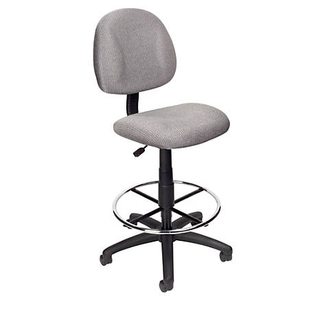 Boss Drafting Stool, Gray/Chrome, B1615-GY