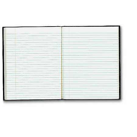 """Blueline® Executive Notebook, 9 1/4"""" x 7 1/4"""", College Ruled, 150 Pages, Black"""