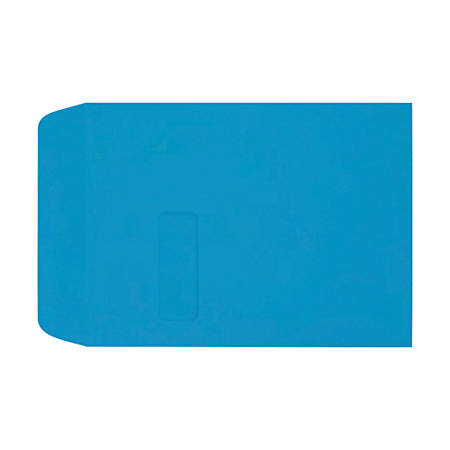 """LUX Open-End Window Envelopes With Peel & Press Closure, #9 1/2, 9"""" x 12"""", Pool, Pack Of 50"""