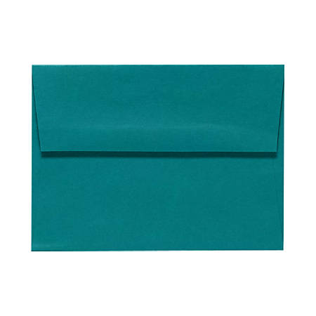 """LUX Invitation Envelopes With Peel & Press Closure, A1, 3 5/8"""" x 5 1/8"""", Teal, Pack Of 250"""